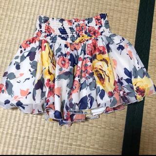 リエンダ(rienda)の花柄 キュロットスカート(ミニスカート)