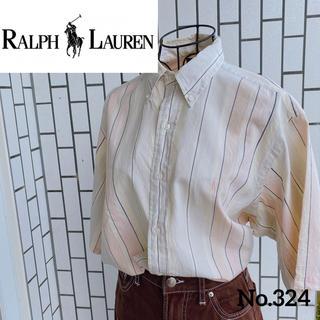 ラルフローレン(Ralph Lauren)の【希少】90'sラルフローレン BDシャツ 半袖 ストライプ シンガポール製(シャツ)