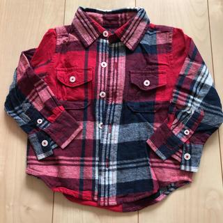 ベビーギャップ(babyGAP)のbabygap 赤のネルシャツ(Tシャツ/カットソー)