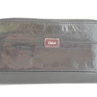 Chloe - クロエ 長財布 - 黒 ラウンドファスナー