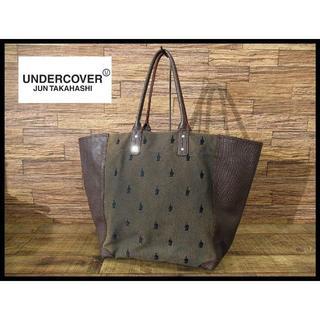 アンダーカバー(UNDERCOVER)のカルボナーラ様専用 アンダーカバー FF刺繍 トート バッグ カバン レザー(トートバッグ)