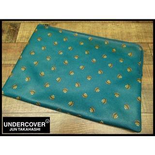 UNDERCOVER - アンダーカバー ハンバーガー 総柄 クラッチ バッグ インバッグ ターコイズ