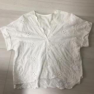 ヴィス(ViS)のvis パンチングレース tシャツ(シャツ/ブラウス(半袖/袖なし))