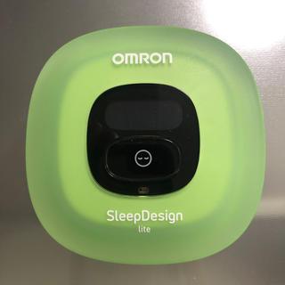 オムロン(OMRON)の【美品】オムロン ねむり時間計 HSL-002C グリーン(その他)