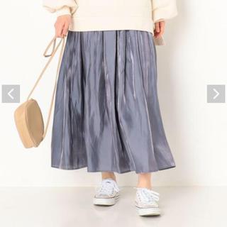 archives - 【新品未使用】archives ギャザープリーツシャイニースカート