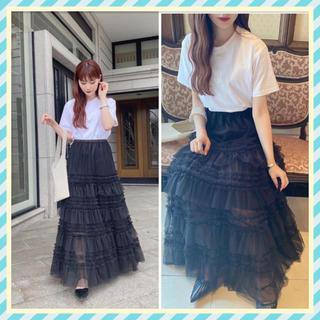 チェスティ(Chesty)のAcka original tulle skirt チュールスカートchesty(ロングスカート)