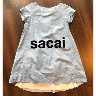 サカイ(sacai)のsacai★デニムワンピース(ひざ丈ワンピース)