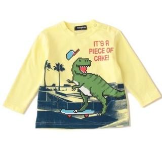 クレードスコープ(kladskap)のクレードスコープ  長袖Tシャツ130  クリーム(Tシャツ/カットソー)
