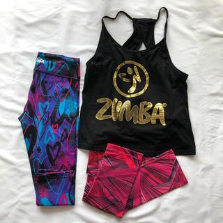 ズンバ(Zumba)のZUMBA  ズンバ ウエア タンクトップ・レギンス3点(ダンス/バレエ)