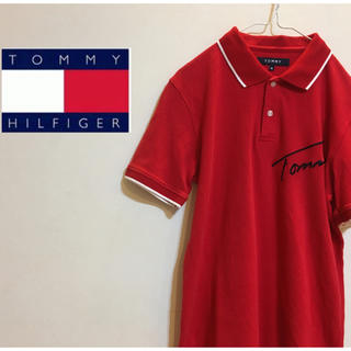 トミーヒルフィガー(TOMMY HILFIGER)のレア!トミー ヒルフィガー レッド ポロシャツ(ポロシャツ)