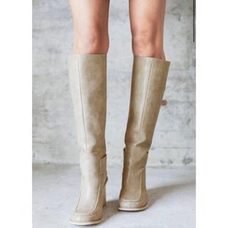 アリシアスタン(ALEXIA STAM)のHigh Heel Long Boots Beige(ブーツ)
