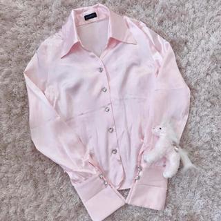 エイチアンドエム(H&M)の今週限定 レア baby pink tops(シャツ/ブラウス(長袖/七分))