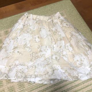 アンクルージュ(Ank Rouge)のアンクルージュ 花柄 フレアスカート(ひざ丈スカート)