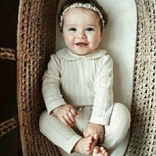 Caramel baby&child  - 新品 bebe organic ロンパース