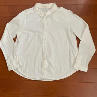 ショコラフィネローブ(chocol raffine robe)のchocol raffine robe 白ネルシャツ(シャツ/ブラウス(長袖/七分))