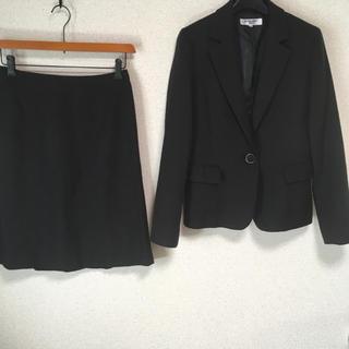 ナチュラルビューティーベーシック(NATURAL BEAUTY BASIC)のナチュラルビューティー スカートスーツ L W72 ラメ 黒 入学入園 DMW(スーツ)