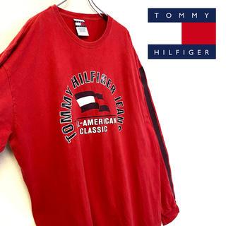 トミーヒルフィガー(TOMMY HILFIGER)の美品 TOMMY HILFIGER 長袖 ロゴTシャツ ビッグシルエット(Tシャツ/カットソー(七分/長袖))