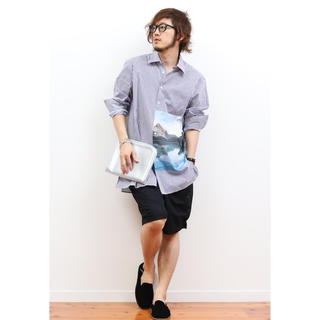 ZARA - ZARA ストライプ プリントシャツ Sサイズ