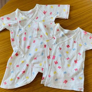 ミキハウス(mikihouse)の新生児 肌着 2点セット ミキハウス(肌着/下着)