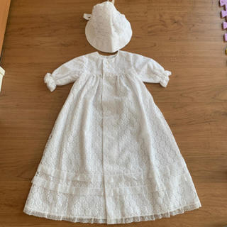 イセタン(伊勢丹)の帽子付き赤ちゃんドレス オフホワイト(その他)