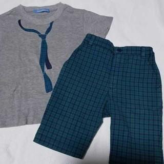 familiar - ファミリア チェック セットアップ 男の子 Tシャツ ハーフパンツ