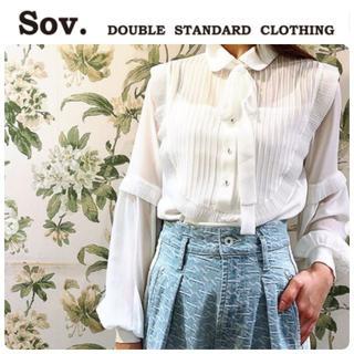 DOUBLE STANDARD CLOTHING - 美的掲載★新品 ダブルスタンダード ボウタイブラウス 定価24200円