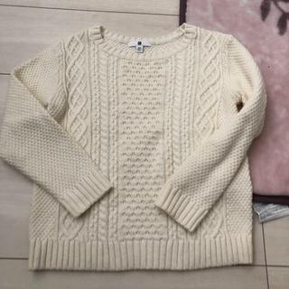 ユニクロ(UNIQLO)のユニクロ 白 セーター 120(ニット)