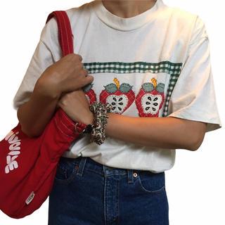 Shinzone - USA 90's ヴィンテージ りんご アップル  Tシャツ  アメリカ 古着