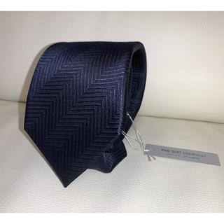 THE SUIT COMPANY - 4,200円相当新品 THE SUIT COMPANY ネイビー 紺色 ネクタイ