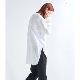 ビームス(BEAMS)の新品未使用【ATON】ロングスリーブ ラウンドヘム プルオーバー(Tシャツ(長袖/七分))
