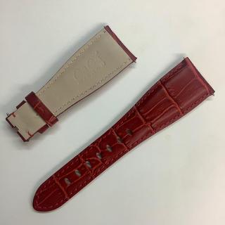 ガガミラノ(GaGa MILANO)のガガミラノ 交換ベルト 48mmケース用 赤色 紅色(レザーベルト)