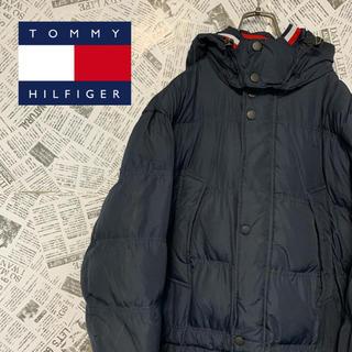 トミーヒルフィガー(TOMMY HILFIGER)のトミーヒルフィガー ダウンジャケット ビッグサイズ ネイビー ワンポイントロゴ(ダウンジャケット)