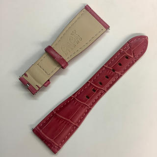 ガガミラノ(GaGa MILANO)のガガミラノ 交換ベルト 48mmケース用 バラ色 ローズ色(レザーベルト)