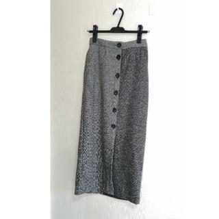 スコットクラブ(SCOT CLUB)の定価15120円 RADIATE フロントボタン バイカラー スカート(ひざ丈スカート)