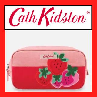 キャスキッドソン(Cath Kidston)のキャスキッドソン イチゴ 化粧ポーチ メイクポーチ ピンク レディース(ポーチ)