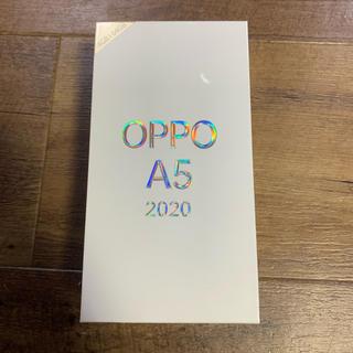 アンドロイド(ANDROID)の5%クーポン使用可能 OPPO A5 2020 新品未使用 SIMフリー ブルー(スマートフォン本体)