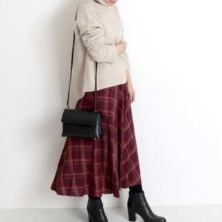 イエナスローブ(IENA SLOBE)のIENA SLOBE チェックロングスカート(ロングスカート)