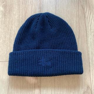 ステューシー(STUSSY)のSTUSSY ニット帽 カラーネイビー(ニット帽/ビーニー)