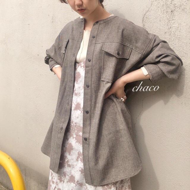 Kastane(カスタネ)の僅か⚠️新品🍪¥7150【Kastane】ツイードノーカラーシャツ レディースのジャケット/アウター(ノーカラージャケット)の商品写真