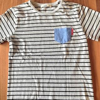 ライトオン(Right-on)の美品 ライトオン★MPS  ボーダーTシャツ 140(Tシャツ/カットソー)
