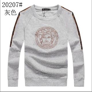 ヴェルサーチ(VERSACE)の人気新品 Versaceメンズ 無地 コットン長袖 トップスM-2XL(Tシャツ/カットソー(七分/長袖))