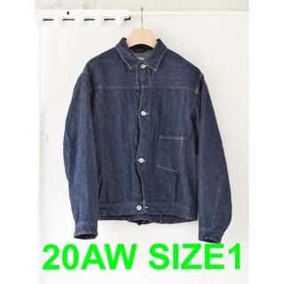 コモリ(COMOLI)のCOMOLI 20aw denim jacket navy size1(Gジャン/デニムジャケット)