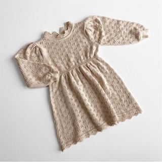 キャラメルベビー&チャイルド(Caramel baby&child )の透かし編み ワンピース(ワンピース)