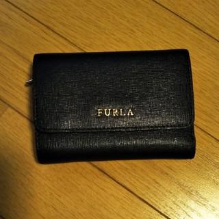 Furla - 美品!フルラ♡バビロン 三つ折り財布 ブラック