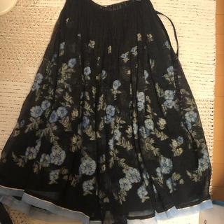 サンタモニカ(Santa Monica)のアンティーク オーガンジースカート(ひざ丈スカート)