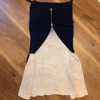 ワイズ(Y's)の《美品》Y's レディース ロングスカート 2 ネイビー(ロングスカート)