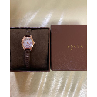 agete - アガット  腕時計 ソーラー