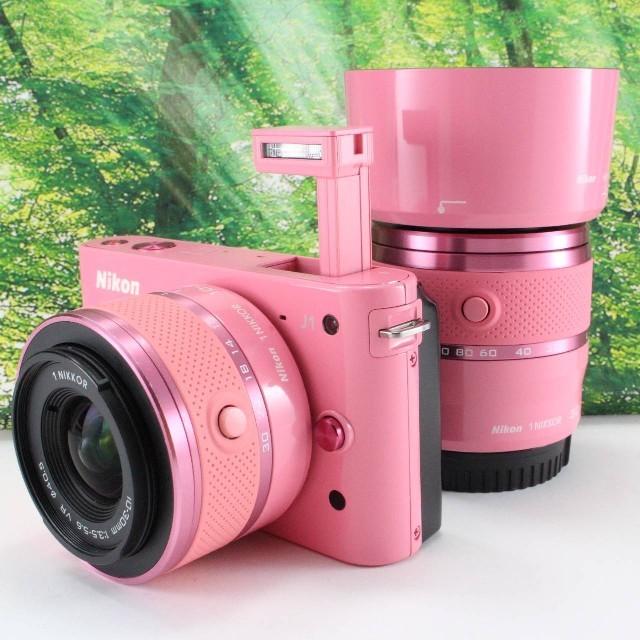 Nikon(ニコン)のNikon 1 (ニコンワン) J1 (ジェイワン) ダブルズームキット スマホ/家電/カメラのカメラ(ミラーレス一眼)の商品写真