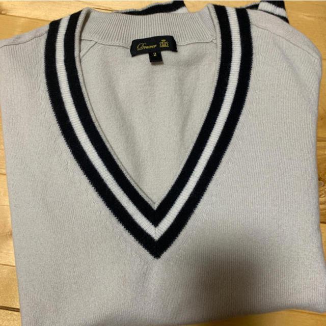 Drawer(ドゥロワー)のdrawarカシミヤVネックニット レディースのトップス(ニット/セーター)の商品写真