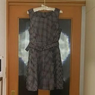 マジェスティックレゴン(MAJESTIC LEGON)のワンピース・ジャンパースカート(ひざ丈ワンピース)